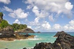 Cliffs on Fernando de Noronha island  (Brazil) Royalty Free Stock Images
