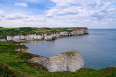 Cliffs at Flamborough Head, England. White cliffs and caves at Flamborough Head, Yorkshire, England Royalty Free Stock Photography
