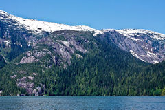 Cliffs and Forests of Misty Fjords Stock Photos
