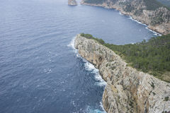 Cliffs in Formentor, region north of the island of Mallorca in S Stock Image