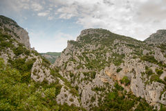 Cliffs in the Franch Pyrenees Stock Photo