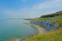 Cliffs of the French north sea coast near Boulogne sur mer. Cliffs of the French north sea coast near Boulogne, Nord Pas De Calais, France on a sunny day with stock photos