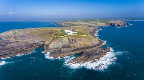 Galley head lighthouse. county Cork. Ireland. Cliffs. Galley head lighthouse. county Cork. Ireland royalty free stock photography