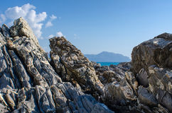 Cliffs of Genoa Nervi Stock Images