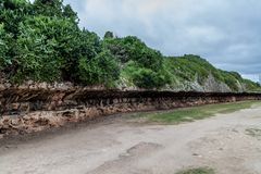 Cliffs in Gibara village, Cu. Ba stock photos