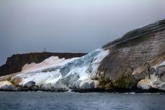 Cliffs, glaciers and snowfields Rudolf island Stock Photos