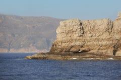 Cliffs in Gramvousa Peninsula. Crete. Greece Stock Image
