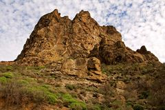 Cliffs in Gran Canaria Royalty Free Stock Photos