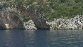 Cliffs on the Greek Islands stock video
