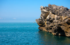 Cliffs in the Gulf of La Spezia - Liguria Italy Royalty Free Stock Photography