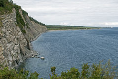 Cliffs in the Gulf of St. Lawrence Royalty Free Stock Photography