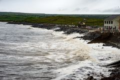 Cliffs and Harbor in Dingle, County Kerry, Ireland Royalty Free Stock Photo