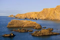 Cliffs hartland point royalty free stock photo