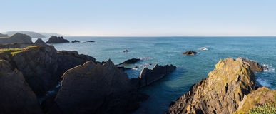 Cliffs at Hartland Quay, North Devon, UK Royalty Free Stock Photography