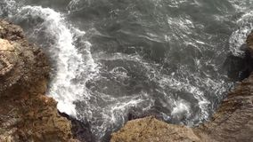 Cliffs with high water stock footage