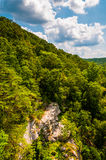 Cliffs on a hillside overlooking Prettyboy Dam, in Baltimore Cou Stock Images