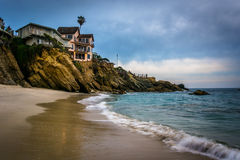 Cliffs and houses at Woods Cove, in Laguna Beach  Stock Image