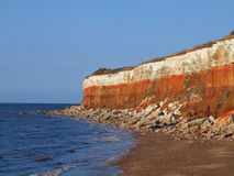 Cliffs of Hunstanton, Norfolk stock photography