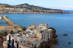 Cliffs of ibiza city Stock Photos
