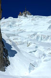 Cliffs of ice below the Aiguille du Midi Royalty Free Stock Photo