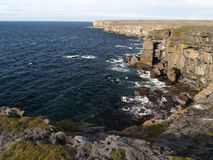 Cliffs on Inishmore Royalty Free Stock Images