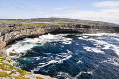 Cliffs in Inishmore, Aran islands in Stock Photography