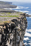 Cliffs in Inishmore, Aran islands, Ireland Stock Images