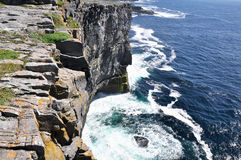 Cliffs of Inishmore, Aran islands, Ireland. Cliffs of Inishmore, Aran islands in Ireland Royalty Free Stock Image