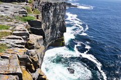 Cliffs in Inishmore, Aran islands, Ireland Royalty Free Stock Photo