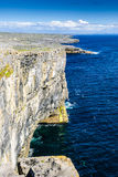 Cliffs on Inishmore, Ireland Stock Images