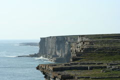 Cliffs in Innis Mor. Ireland Royalty Free Stock Photography