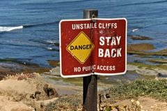 Cliffs1 instable Image stock