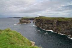 Cliffs of Ireland. Irish coastline near Kilkee at summer Stock Photo