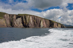 Cliffs in Ireland. Cliffs on the Dingle Peninsula in Ireland Stock Photos