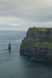 Cliffs of Ireland in vertical position Stock Photo