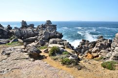Cliffs and islands of Peniche Portugal Stock Photo