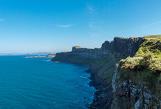 Cliffs, Isle of Skye. Beautiful Scottish cliffs on the Isle of Skye stock photos