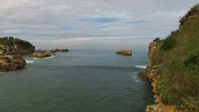 Cliffs of the Islet Rocher Du Basta 06 stock video footage