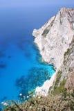 Cliffs at Kampi, Zante. View from clifftop restaurant at Kampi, west coast of Zante (Zakynthos stock photo