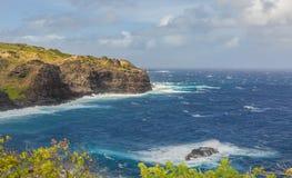 Cliffs of Kapalua on the Island of Maui stock photo