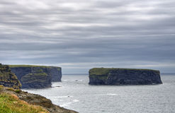 Cliffs in Kilkee Royalty Free Stock Images