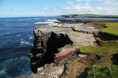 Cliffs of Kilkee. In county Clare in Ireland Royalty Free Stock Photos