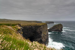Cliffs of Kilkee Royalty Free Stock Images