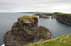 Cliffs in Kilkee, Ireland Stock Photography