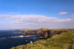 Cliffs in Kilkee , Ireland Royalty Free Stock Photo