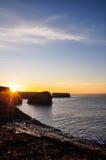 Cliffs of Kilkee. In Ireland Sunset Stock Photo