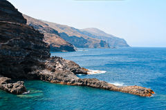 Cliffs in La Palma, Canary Islands Stock Photos