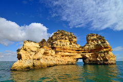 Cliffs in Lagos, Portugal Royalty Free Stock Image