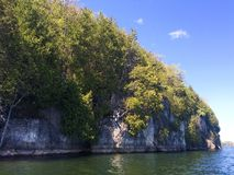Cliffs on Lake Champlain Stock Images