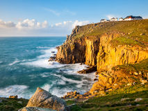 Cliffs at Lands End Cornwall Royalty Free Stock Image